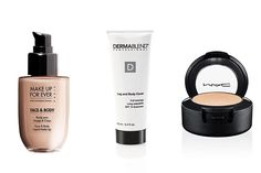 How to cover tattoos, stretch marks, birthmarks and discolorations with body makeup. I LOVE Dermablend. It covers my tattoo which contains a lot of bright colors and it lasts all day!