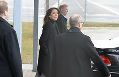 Crown Princess Mary arrives in Estonia for a short tour 4/1/2014