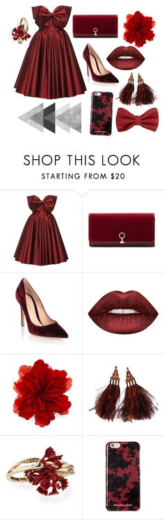 """Dresscode."" by dontdanceex ❤ liked on Polyvore featuring Lena Hoschek, Louise et Cie, Gianvito Rossi, Lime Crime, Gucci, Louis Vuitton, Oscar de la Renta, Michael Kors and MANGO MAN"