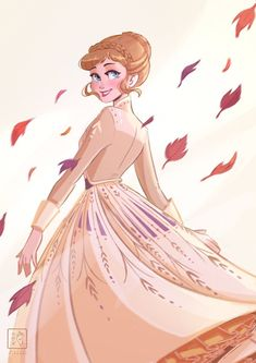 """""""I am obsessed with this Anna dress ✨🍂🍁 Anna Disney, Film Disney, Disney Frozen Elsa, Cute Disney, Disney Pixar, Anna Frozen Drawing, Frozen Drawings, Disney Drawings, Disney Princess Pictures"""