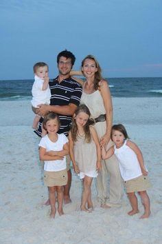 Jep without beard, Jessica, & their 4 kids.