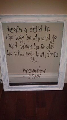 @Maggie Carrillo this is a great way to display the verses in a nursery - decals on glass in vintage frame