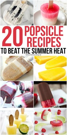 These 20 delicious popsicle recipes are easy to make and delicious to east! All you need are a few simple ingredients and you have a great summer treat. Make one today!