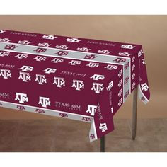 (12/case) Case of Texas A & M University Tablecover, Plastic 54''x108''
