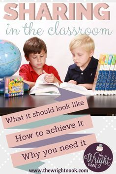 Sharing in the classroom: are we spending the time that we need to on this subject? Are we teaching it the right way? Read for tips on the subject.
