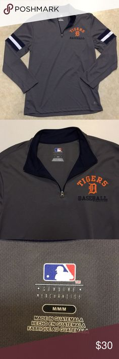 Detroit Tigers men's pullover Men's Detroit Tigers 1/4 zip light weight pullover.  Excellent condition with only one small thread snag on the back side.  12/22/17 Shirts