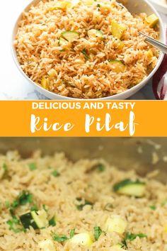 Chicken Rice Pilaf Recipe, Chicken Flavored Rice, Basmati Rice Recipes, White Rice Recipes, Recipe For Rice Pilaf, Healthy Brown Rice Recipes, Chicken Broth Rice, Quick Rice Recipes, Easy Rice Pilaf