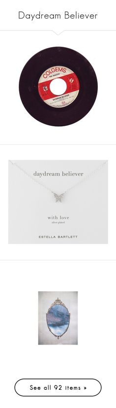 """""""Daydream Believer"""" by effythevampireslayer ❤ liked on Polyvore featuring fillers, music, jewelry, pendants, silver jewellery, butterfly jewelry, monarch butterfly jewelry, chain pendants, silver pendant jewelry and accessories"""