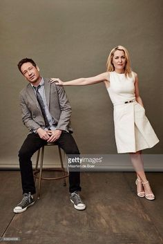 These two ❤️ #DavidDuchovny #GillianAnderson #TheXFiles2016