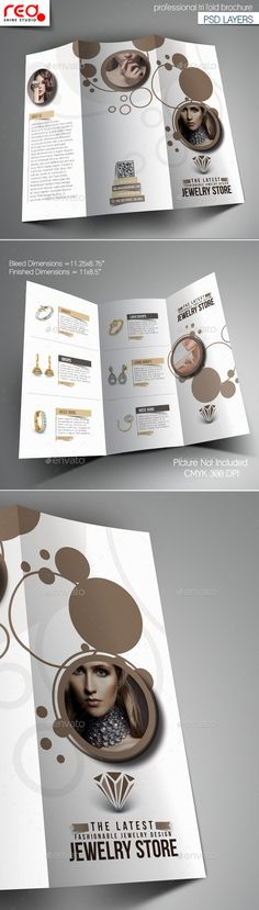 Photography Studio Trifold Brochure Template  More Brochure