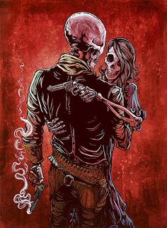 Couples - Day of the Dead Artist David Lozeau
