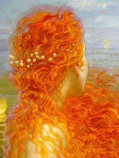 Water Music: Suite No. 3 in G major, HWV 350 - III. Menuet I by George Frideric Handel and Mermaid (Sirène) Paintings by Victor Nizovtsev (Russian Painter) Victor Nizovtsev, Illustration Art, Illustrations, Arte Pop, Mermaid Art, Mermaid Paintings, American Artists, Painting & Drawing, Amazing Art