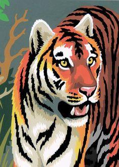 "Tigers Junior Paint By Number Mini Kit - 5"""" x 7"