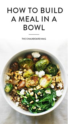 Elise Museles of Kale & Chocolate is dishing out perfect tips on building a meal in a bowl quicker and easier than ever!