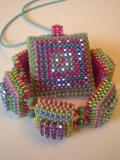 Disco Squares Pendant and Bracelet | Flickr - Photo Sharing!