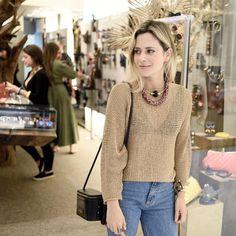 A bela Luiza Dias com o nosso xodó >>>> Bolsa Freja. Descubra em www.bit.do/escudero