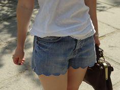 FIERCE FASHION: DIY - Scalloped Denim Shorts IN 5 MIN!!!