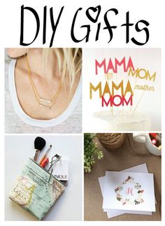 DIY gift ideas for all the ladies! #diygifts