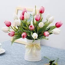 Tulpen Arrangements, Fake Flower Arrangements, Flower Centerpieces, Flower Decorations, Sola Flowers, Tulips Flowers, Fake Flowers, Flower Plants, Flower Diy