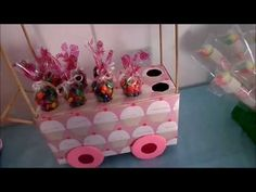 ROOM DECOR DIY - ORGANIZADOR DE CARTON EN FORMA DE CARRITO DE DULCES - Isa ❤️ - YouTube Ideas Para Fiestas, Baby Boy Shower, Diy Room Decor, Bar Stools, Buffet, Projects To Try, Gifts, Bar Ideas, Youtube