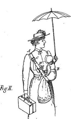 A selection of baby carrier patents as far back as 1893.