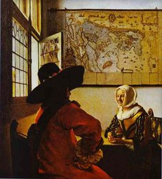 Johannes Vermeer < Officer and a Laughing Girl > (1657년)