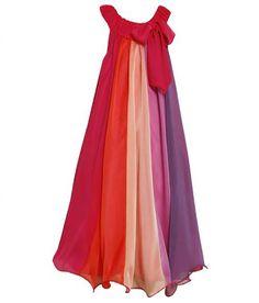 Bonnie Jean# B44508, Multi Color Block Chiffon Overlay http://www.bonniejeandresses.in/b44508.html