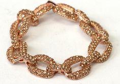 Victoria Pave Link Bracelet-52.00