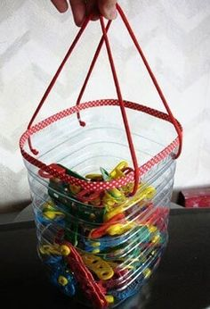 How to Recycle Plastic Bottles for Handmade Home Organizers and Small Storage Containers Reuse Plastic Bottles, Plastic Bottle Crafts, Recycled Bottles, Handmade Home, Recycling, Reuse Recycle, Diy Projects To Try, Craft Projects, Recycled Crafts