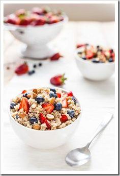 High Protein Breakfast Quinoa Mixed Berries