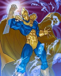 Kent V. Nelson came into possession of the Helm of Nabu, succeeding Hector Hall as the new Dr. He is the grand-nephew of the original Doctor Fate, Kent Nelson. Dc Heroes, Comic Book Heroes, Comic Books Art, Comic Art, Book Art, Dc Comics Characters, Dc Comics Art, Marvel Dc Comics, Fun Comics