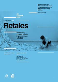 Cartel Ciclo de Conferencias del Máster Oficial de la Universidad de Jaén en Investigación en Artes, Música y Educación Estética designed by Javi Montoya