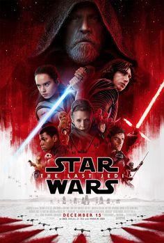 Star Wars: The Last Jedi -- Daisy Ridley, John Boyega, Oscar Isaac, Adam Driver, Mark Hamill Star Wars Film, Star Wars Episoden, Star Wars Watch, Star Wars Poster, Poster Poster, Print Poster, Hindi Movies, New Movies, Movies To Watch