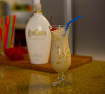 RUMCHATA COLADA 1 part RumChata 1 part Light Rum  1 part Pineapple Juice 1/2 part Cream of Coconut Shake with ice. Strain and serve over ice. Enjoy!