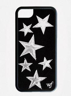 905165625aa Black Velvet Silver Stars iPhone 7 Plus Case