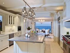 Malibu beach house kitchen
