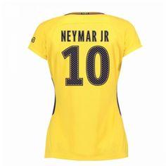 PSG Neymar Jr 10 Udebanetrøje Dame 17-18 Kort ærmer #Billige  #Fodboldtrøjer