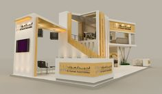 Al Hamad Automobiles Booth. Exhibition Stall, Exhibition Stand Design, Exhibition Ideas, Pop Design, Stage Design, Trade Show Booth Design, Web Banner Design, Small Buildings, Cladding