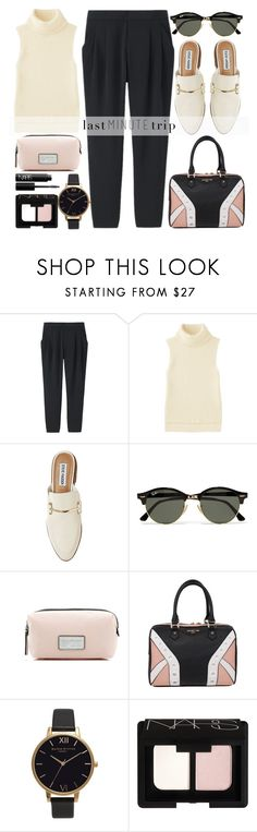 """""""Last minute trip"""" by alaria ❤ liked on Polyvore featuring Uniqlo, Steve Madden, Ray-Ban, Marc Jacobs, Elodie, Olivia Burton, NARS Cosmetics and lastminutetrip"""