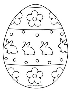 Egg Template Free Printable Coloring Pages Patterns Color 3 Pattern - Coloring Page Ideas Easter Egg Template, Easter Templates, Easter Egg Pattern, Easter Printables, Easter Egg Outline, Easter Egg Coloring Pages, Coloring Pages For Kids, Easter Coloring Pages Printable, Easter Coloring Pictures