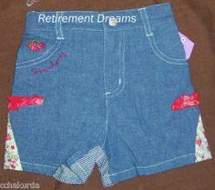 Infant Girls Shorts New Size 24M Months Blue Denim Strawberry Red | eBay