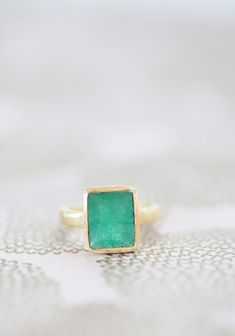 Color My World Indie Emerald Ring   Modern Vintage Rings   Modern Vintage Jewelry