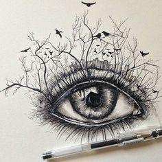 Incredible pen sketch by @alfredbasha! _____