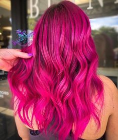 pink hair Hair 16 Bold Hair Colors to Try in 2019 Bold Hair Color, Hair Dye Colors, Ombre Hair Color, Magenta Hair Colors, Bold Colors, Dark Pink Hair, Brown Ombre Hair, Bright Pink Hair, Dyed Hair Pink