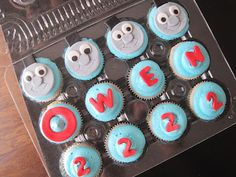 Thomas the Tank Engine Mini Cupcakes!