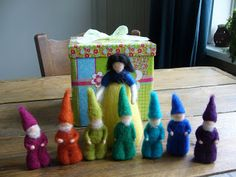 Needle Felted Snow White and the Seven Dwarves