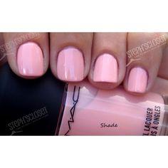 MAC Cosmetics Seasonal Peach Nail Polish ❤ liked on Polyvore featuring beauty products, nail care, nail polish, nails, makeup, beauty, unhas, mac cosmetics and mac cosmetics nail polish