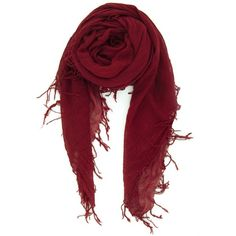 Biking Red Cashmere and Silk Scarf ❤ liked on Polyvore