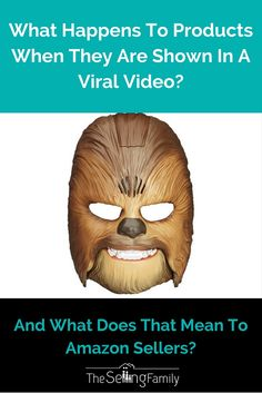 You've seen the video of the lady who bought herself a Chewbacca Mask for her birthday right? Have you thought about what happened to that sales for that mask? Check out this post to find out! Amazon Sale, Amazon Fba, Sell On Amazon, How To Find Out, How To Make Money, Making Ideas, Online Business, Shit Happens, Things To Sell
