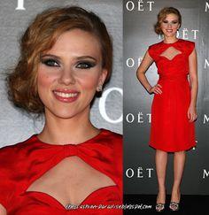Maquillaje para boda de noche con vestido rojo